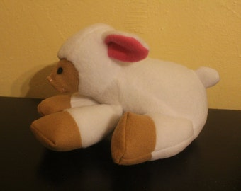 Soft white fleece stuffed lamb/plushie
