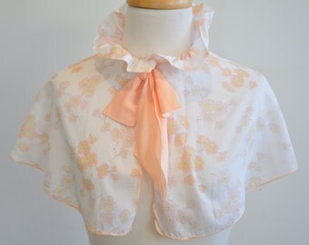 Little girls handmade floral cape