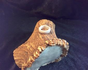 Ready to ship / Elk antler ring. Size 6
