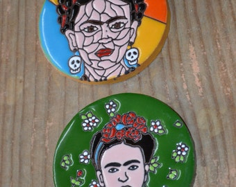 2- FRIDA piece coasters