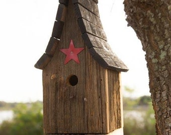 Amish Handcrafted Tall Wren Bird House