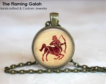 SAGITTARIUS Zodiac Pendant • December Birth Sign • December Star Sign • Sagittarius Astrology • Gift Under 20 • Made in Australia (P0968)