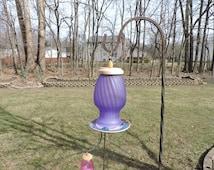 Purple Seed Birdfeeder
