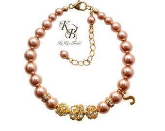Personalized Flower Girl Bracelet, Gold Flower Girl Bracelet, Personalized Little Girl Jewelry, Personalized Jewelry, Flower Girl Gift