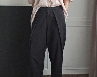 Garconne tomboy style low-crotch oversize culotte sarouel trousers (Please convo for fabric swatch)
