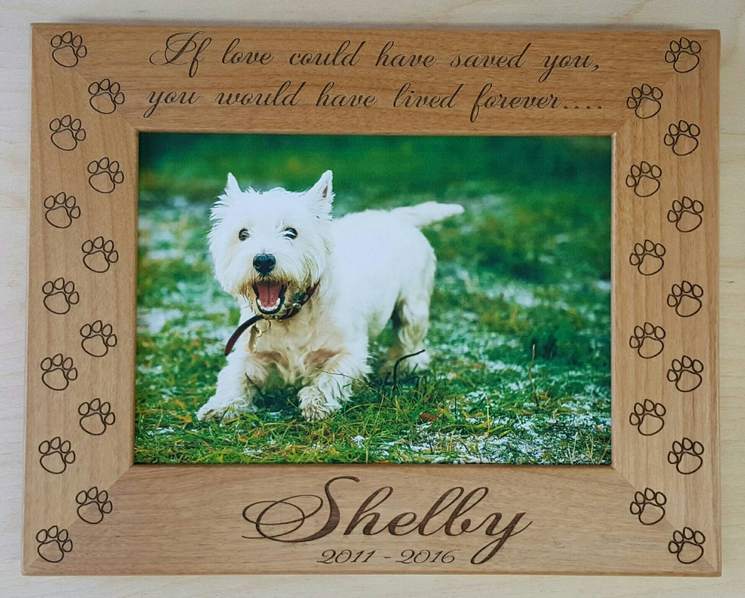 dog memorial picture frame 5x7 pet custom laser engraved frame if love could have saved you you would have lived forever cat memorial