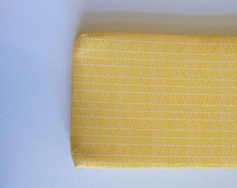 Yellow Herringbone - Changing Pad Cover