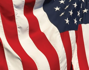 4x5 American Flag Backdrop For Studio Photography / USA Patriotic 4th of July - 4x5 ft (FV9025)