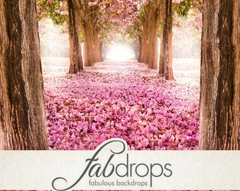 "4x5 ""Spring Blossoms"" Scenic Photobooth Backdrop - Fab Vinyl 4x5 ft (FV5031)"