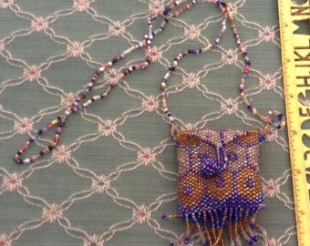 Vintage Hand Beaded Sachet Pouch