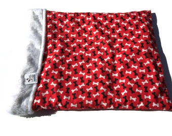 Red Burrow Bag, Snuggle Sack, Made in Colorado, Doxie Bed Warmer, Cuddle Bag, Wiener Dog Bed, Pet Bed Warmer, Chihuahua Sack, Doxie Cave
