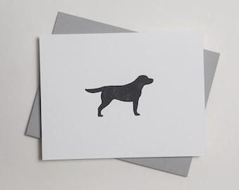 Kenzie - Labrador Retriever - Letterpress Dog Card