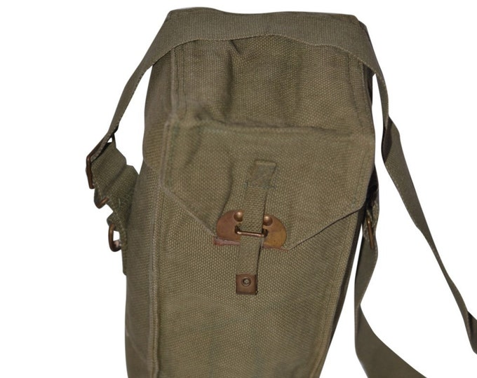 Olive Drab Military Ammo Container Pouch Vintage Estate