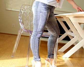 Jeans Printed Legging Jeggings Winter Fashion Pants Blue Jeans Prints