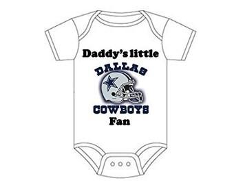 ON SALE Dallas Cowboys Daddys little fan Shirt  onesie you pick size newborn / 0-3 / 3-9 / 12 / 18 month 2t 3t 4t