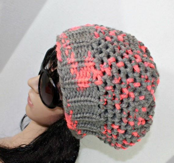 Loom Knit Baby Booties Pattern : Loom Knit Slouchy Beanie Hat PATTERN with Step by Step by LoomaHat