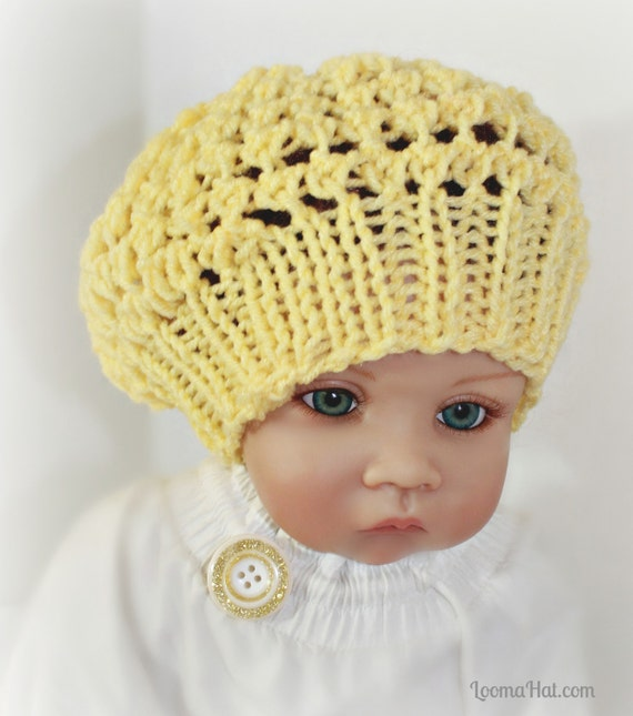 Loom Knit Baby Hat Tutorial : Loom knit baby hat pattern with video tutorial three step