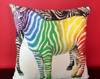 ON-SALE 18 x 18 Zebra Cushion Throw Pillow