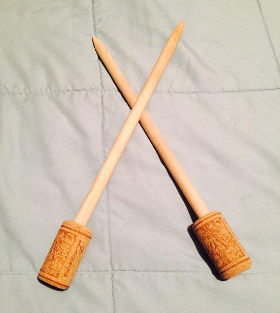 Mm Knitting Needles : Wooden knitting needles size mm
