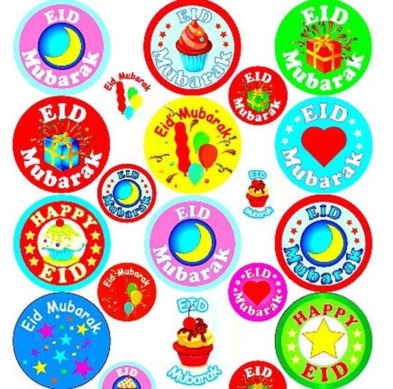 Eid Mubarak Stickers: 92 Large Eid Stickers Eid Decorations Eid Mubarak Stickers