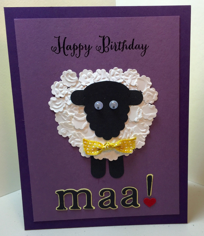 Happy Birthday Maa Humerous Handmade Birthday Card For Mom
