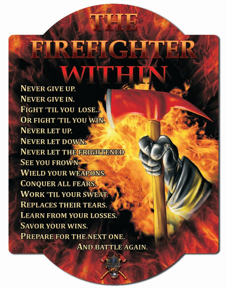 Firefighter Oath Hardboard Wall Sign