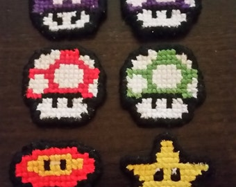 Mario Themed Hair Clips
