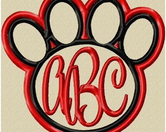 Machine Embroidery Design - Paw Frame - comes in 5 sizes