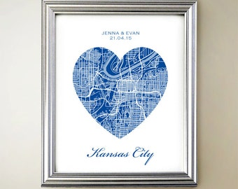 Kansas City Heart Map