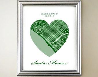 Santa Monica Heart Map
