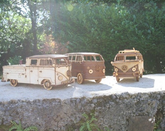 Laser cut VW Bus campervan camper van