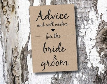 20+ Wedding Advice Cards & Sign / Bridal Shower Advice Cards 3x5