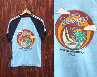 True Vintage 1982 80's Beach Boys Concert Tour shirt tee S/M