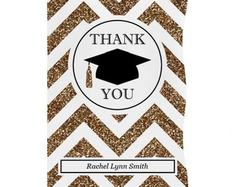 Custom Tassel Worth The Hassle - Gold - Graduation Thank You Cards - Graduation Party Supplies - Set of 12