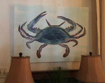 Crab on Canvas