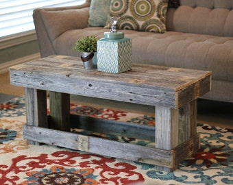 SALE Natural Unfinished Coffee Table