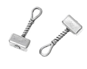 Thor's Hammer Charms Large Mallet Pendants Viking Lore 2/5/10 153A