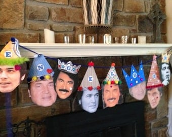 Custom Birthday Face/Hat Party Banner, SMALL FORMAT