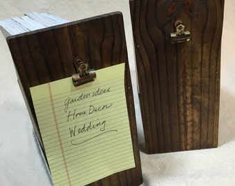 Reclaimed Wood Rustic-Inspired Magazine Holder 2pc Set