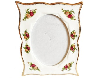 Photo frame - Old Country Roses wavy edge picture frame - Royal Albert