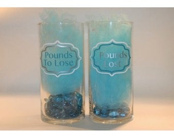 Vinyl Decals for Weight Loss Vases
