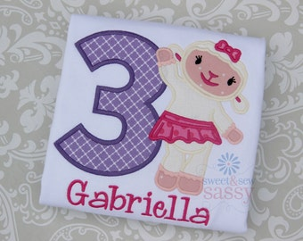 Personalized Lambie Doc McStuffins Birthday Shirt - Disney - Applique - Girls - Party - Birthday