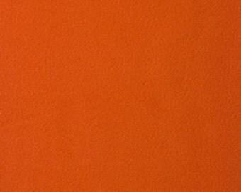 Remnant - Solid Burnt Sienna Fleece Fabric 13in