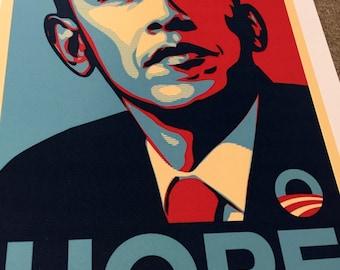 "Shepard fairey art print obama ""Hope""  great piece"