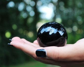 45mm Silver Sheen Obsidian Sphere