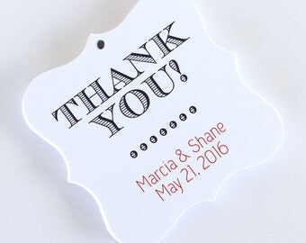 Thank You Favor Tags, Thank You Wedding Favor Tags, Thank You Hang Tags  (FS-022)