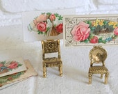 2 Miniature Chairs place Card Holders or Display - Card Holder, Photo Holder