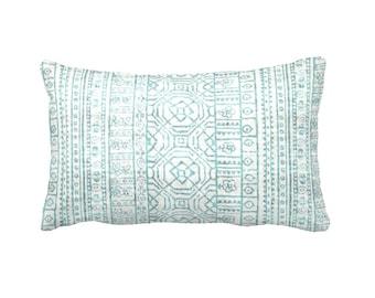 SALE | 50% OFF: 12x20 Pillow Cover Light Blue Pillow Cover Blue Lumbar Pillow Blue Throw Pillow Tribal Pillow Aztec Pillow Decorative Pillow