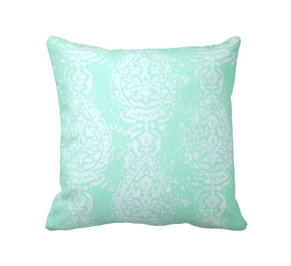 SALE 30% OFF: Mint Throw Pillow Cover Mint Green Pillow