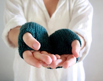 MADE TO ORDER - Wool Fingerless Gloves - Womens, Mens, Teens